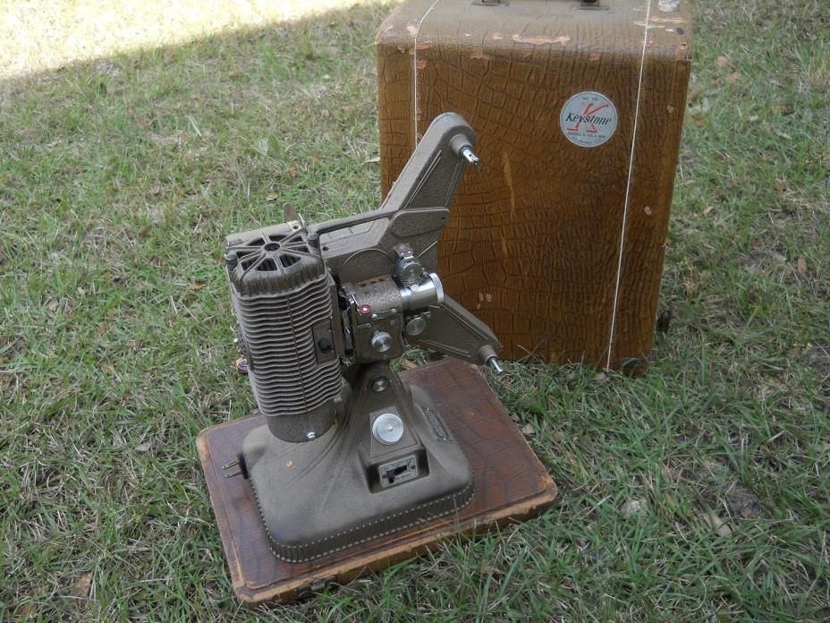 Vintage Keystone 8mm Projector Model K-108 With Carry Case USA Made SN#LU-2221