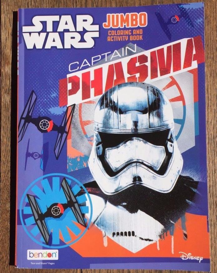 Star Wars Jumbo Coloring and Activity Book Captain Phasma New Free Shipping