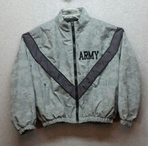 Army IPFU Jacket Medium Short Gray Men PT Reflective Military Issue - K31