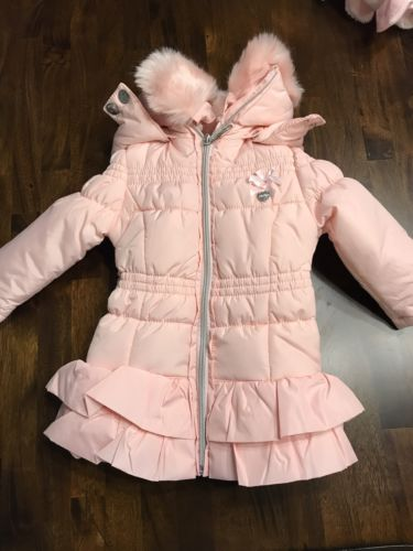 Le Chic Baby Ruffled Puffer Coat, Sizes 9-12 Months