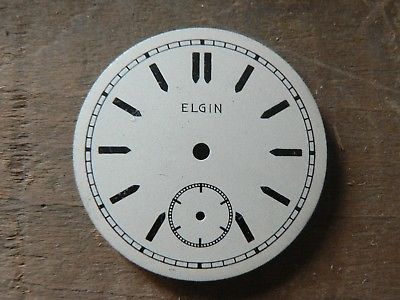 New Old Stock Vintage Elgin Dial For 1930's 0 Size Wristwatch or Hunt Movements