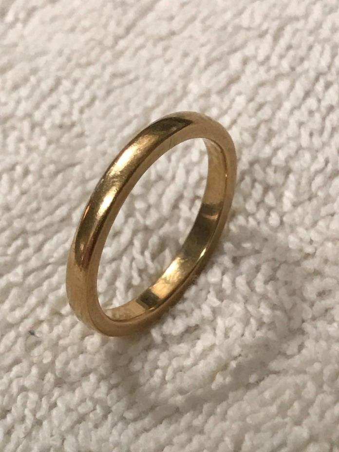 Vintage Estate 18K Gold Weddind Ring / Band  Size7