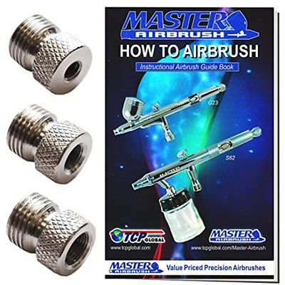 Airbrush Fitting Conversion Adapters For Paasche Badger Aztec Airbrushes Set