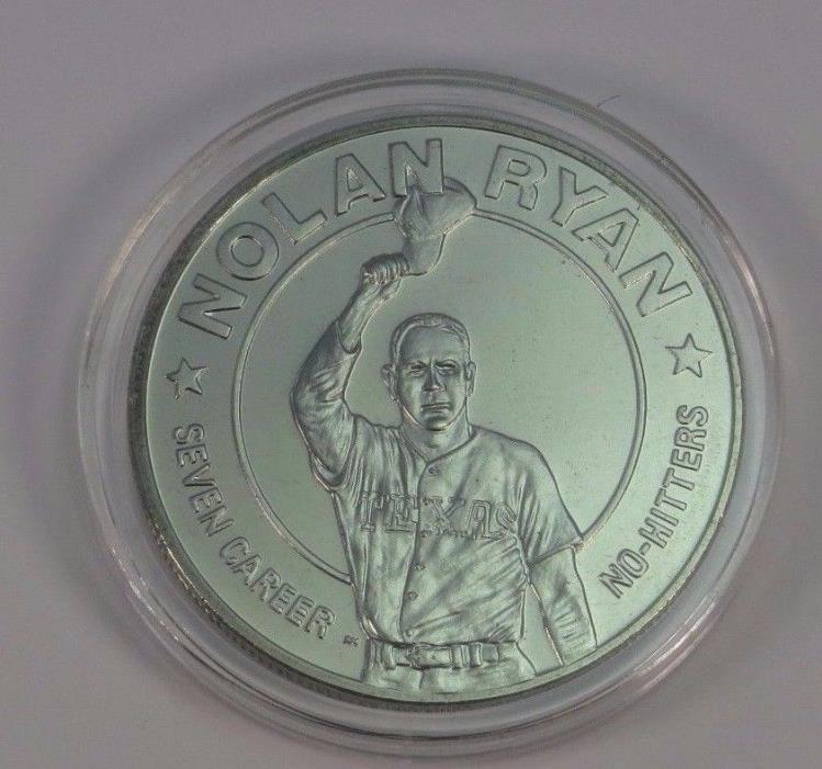 LIBERIA $1 1993 *NOLAN RYAN* Seven No-Hitters Commemorative Coin HOF COLLECTIBLE