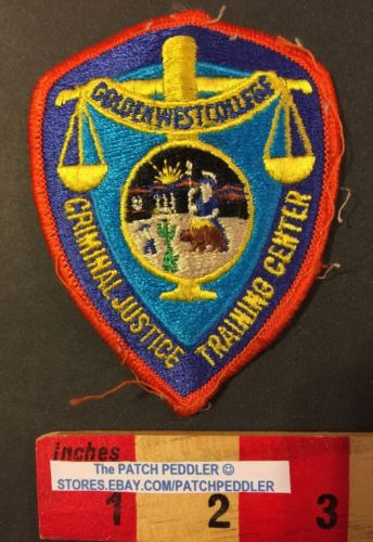 Patch Golden West College Huntington Beach CA CRIMINAL JUSTICE TRAINING CENT 551