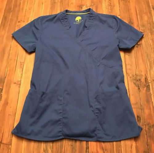 Healing Hands Small Blue Scrub Top Women's