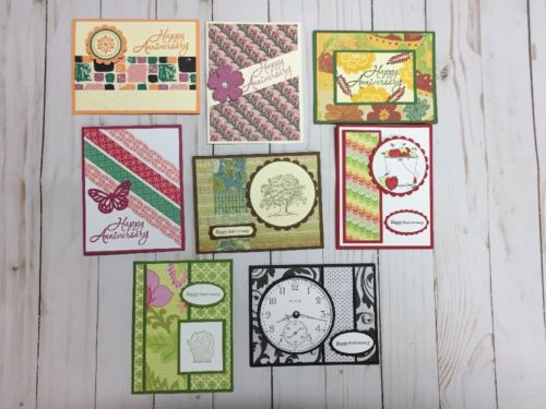 8  Handmade Anniversary  Card Assortment~ With Envelopes