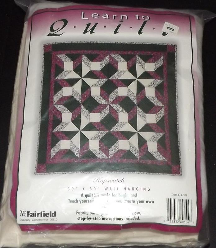 hopscotch  wall hanging quilt kit - 30 x 30