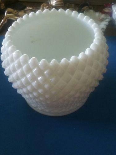 white milk glass diamond round bowl