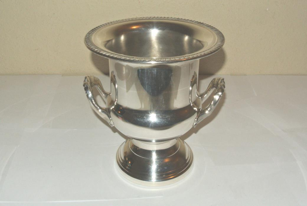 Leonard Silver Plate Trophy Urn Champagne Cooler Ice Bucket Wine Chiller