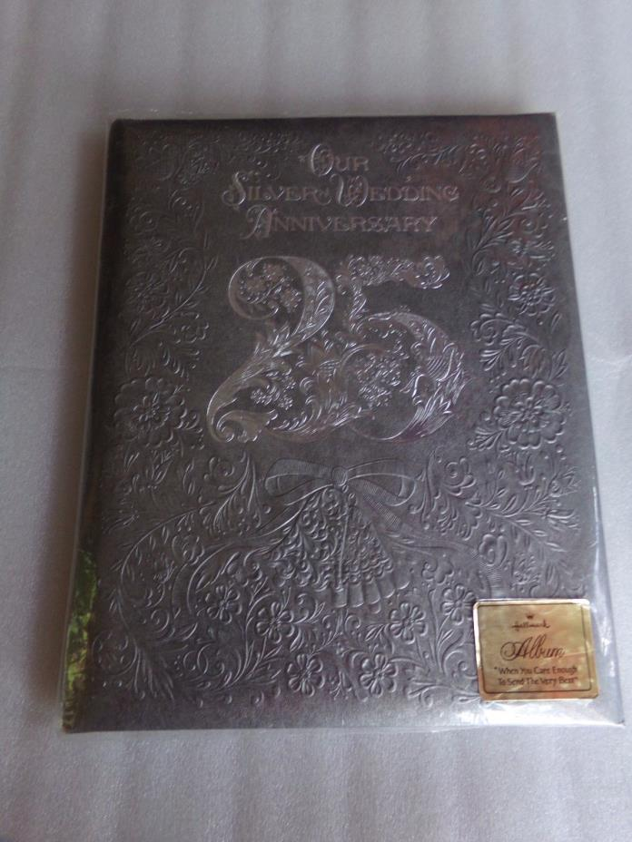 VtgClassic HALLMARK 25th Wedding ANNIVERSARY Memory Keepsake Album Book USA Gift