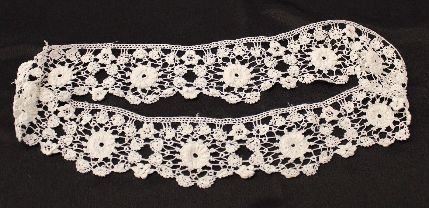 Antique lace, soft crochet lace ivory, 3