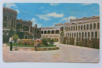 Postcard Santa Cecilia Castle Interior Guanajuato Mexico Posted
