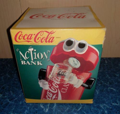 1992 Coca Cola Coke Action Coin Bank- No Batteries Needed Piggybank
