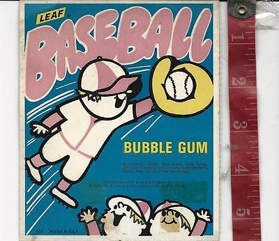 Vintage vending machine display Leaf Baseball  bubble gum card FREE SHIPPING