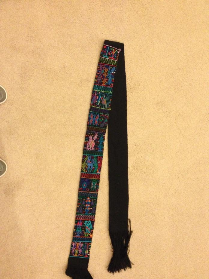 Guatemalan Embroidered Huipel Belt