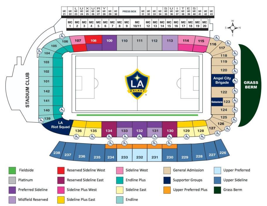 2-4 Sideline Tickets LA Galaxy vs. Real Salt Lake 6/9/18 (below face value)