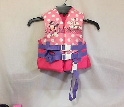 Disney Minnie Mouse Child Life boating vest for 30-50 lbs crotch strap