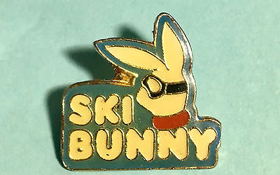 SKI BUNNY - Ski Pin -©1986 Vintage SKIING Collectible!