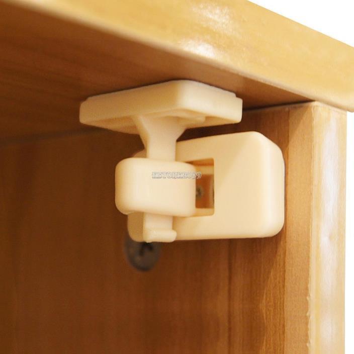 10pcs Magnetic Cabinet Locks Safety Baby Set 8 Locks 2 Keys Child Proof ER99