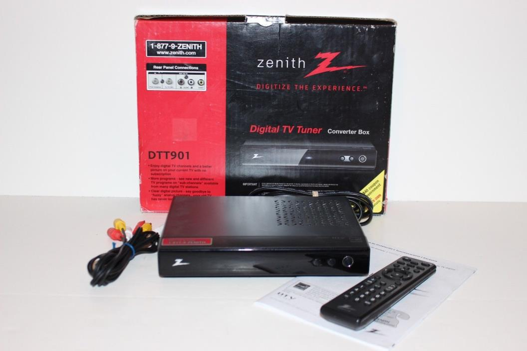 Zenith Digital TV Tuner DTT901 Converter Box Remote