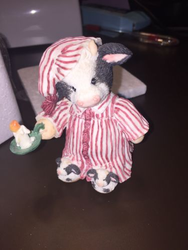 Enesco Figure Mary's Moo Moos Cow Once Upon A Midnight Steer 1994 651680