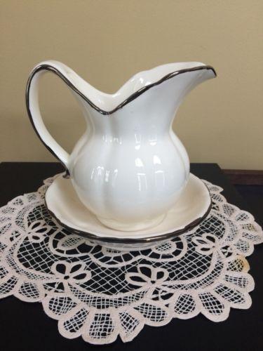 """Antique Mini Wash Bowl & Pitcher 6 1/2"""""""