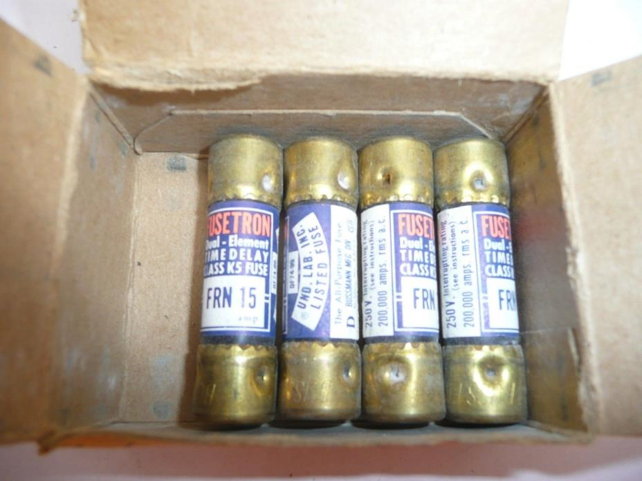 LOT OF 4  FUSETRON FUSES  FRN 15A / 250V
