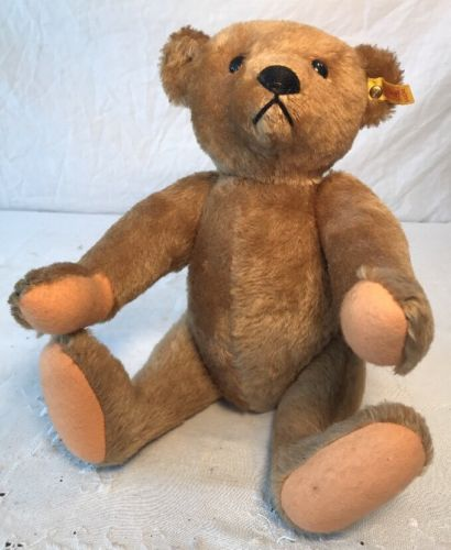 """Classic Jointed Stuffed Steiff Teddy Bear 14"""""""