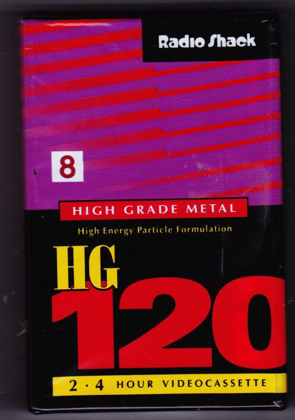 Vintage RADIO SHACK HG P6-120 2~4 hr 8mm high grade metal video tape Japan seald