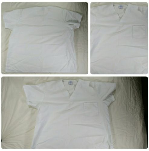 Medgear Nursing Scrubs Top Uniform size 2xl white medical