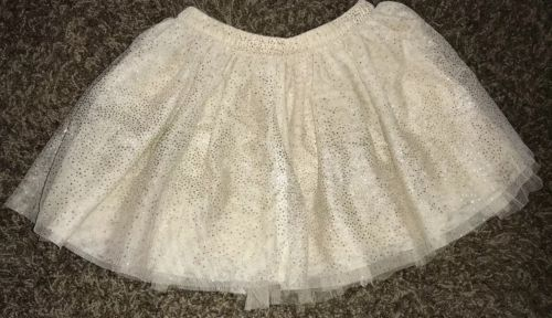 CHEROKEE Toddler Girls Gold Tule Sparkly Skirt Size 4t