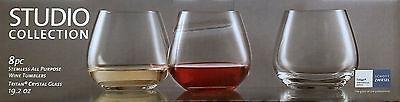 NIB 8 PC Scott Zwiesel 19.2 OZ Stemless Wine Tumbler Tritan Crystal Glasses