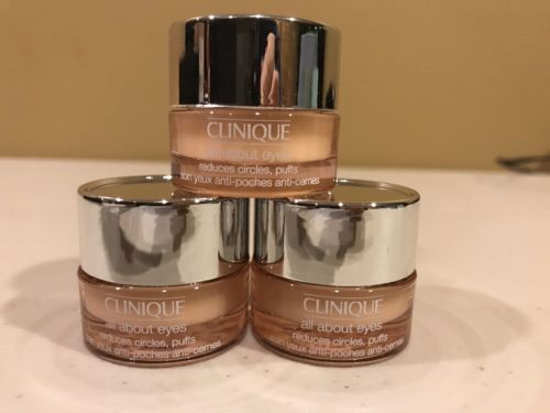 Lot of 3 New Clinique All About Eyes Reduces Circles Puffs 0.17 oz/5 ml Each