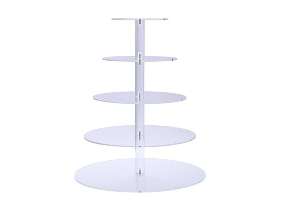 5 Tier Acrylic Cupcake Wedding Buffet Party Birthday Dessert Cake Stand Display