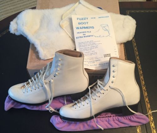 Riedell Womens Skating Shoes 375 Vintage Size 7AA White Skate Boots