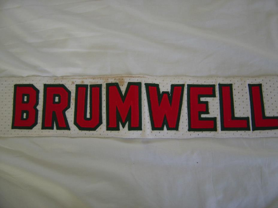 1982 New Jersey Devils Game Used Nameplate