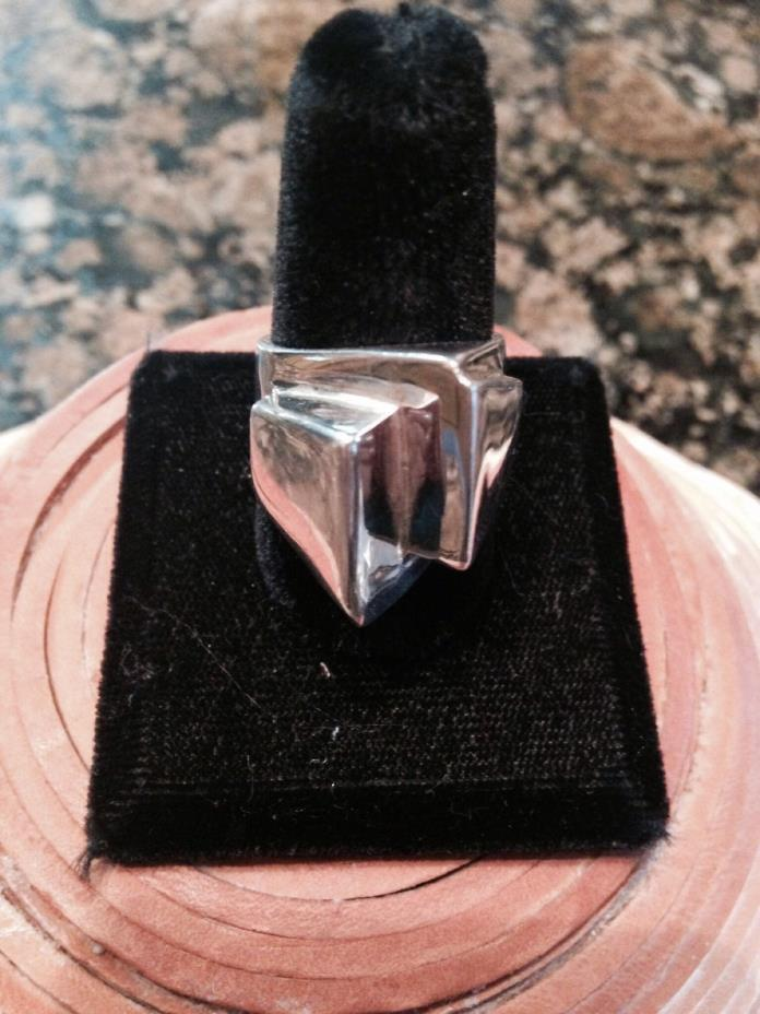 Sterling silver heavy ring comtemporary