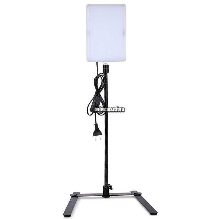 US Plug Camera Light Panel Gooseneck Photography Studio Video Photo ONMF