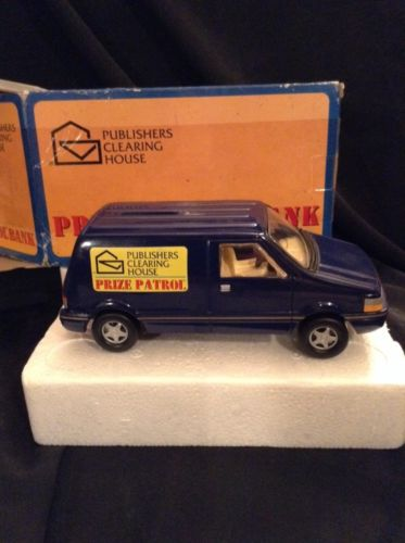 PUBLISHERS CLEARING HOUSE PCH 1997 PRIZE PATROL BANK~BLUE VAN~SWEEPSTAKES PROMO