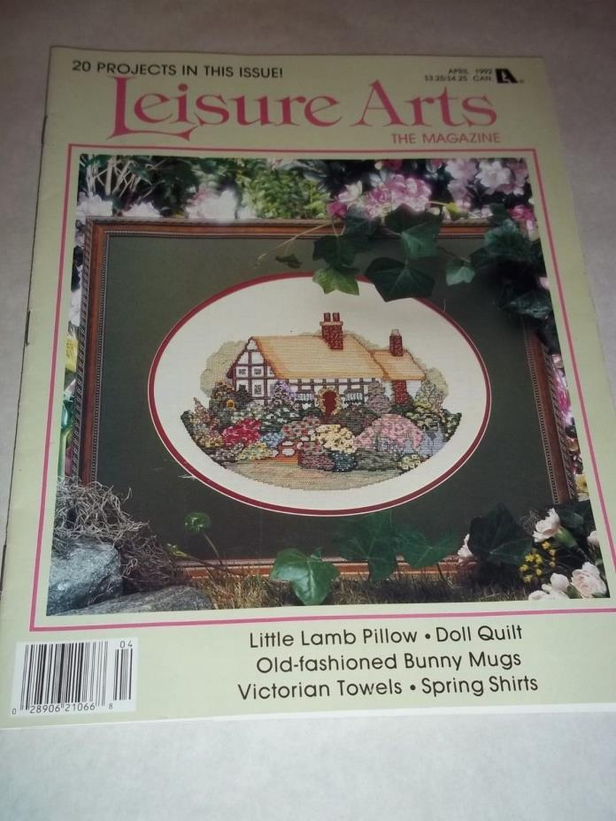 Vtg. Cross Stitch Embroidery Leaflet - Leisure Arts, 20 Projects