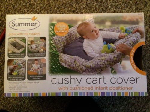 Summer Infant 2-in-1 Cushy Cart Cover and Seat Positioner Excellent Condition!