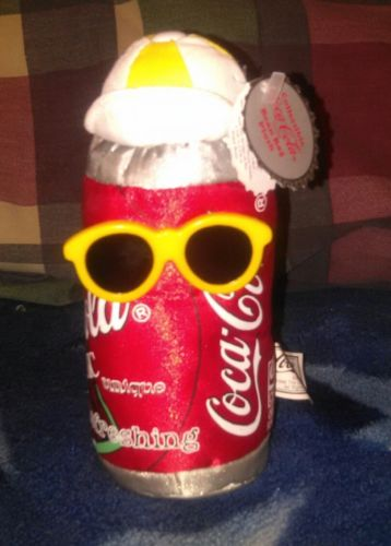 Vintage Hip Hop 1998 Coca Cola Classic Plush Coke Can NWT .