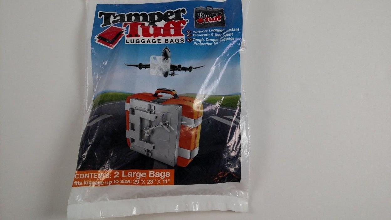Tamper Tuff Luggage Bag Protectors Package of 2 Large Bags  29x23x11