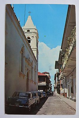 Postcard 8th Street Old Section Panama City Panama Posted