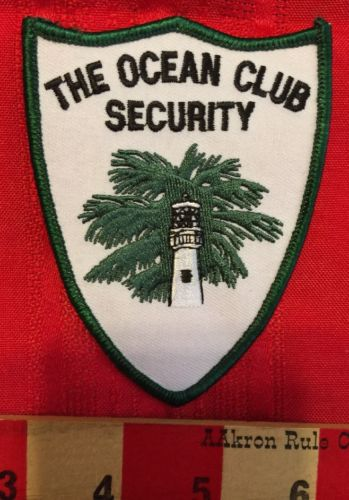 Patch The Ocean Club Security Beach Ocean Lighthouse Palm Tree Leisure Vacation