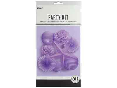 Darice Party Kit Hanging Lavender 8pcKit