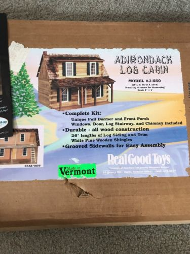 Adurondack Log Cabin Kit Model J-550 Real Good Toys