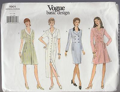 Vogue Dresses Sewing  Pattern Sz  6-10