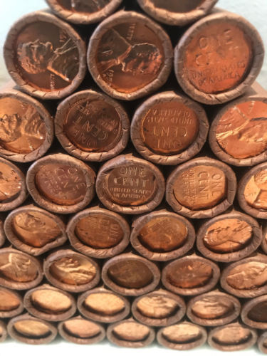 UNCIRCULATED ROLLS LINCOLN WHEAT CENTS OLD US PENNIES BU COIN unsearched lots!